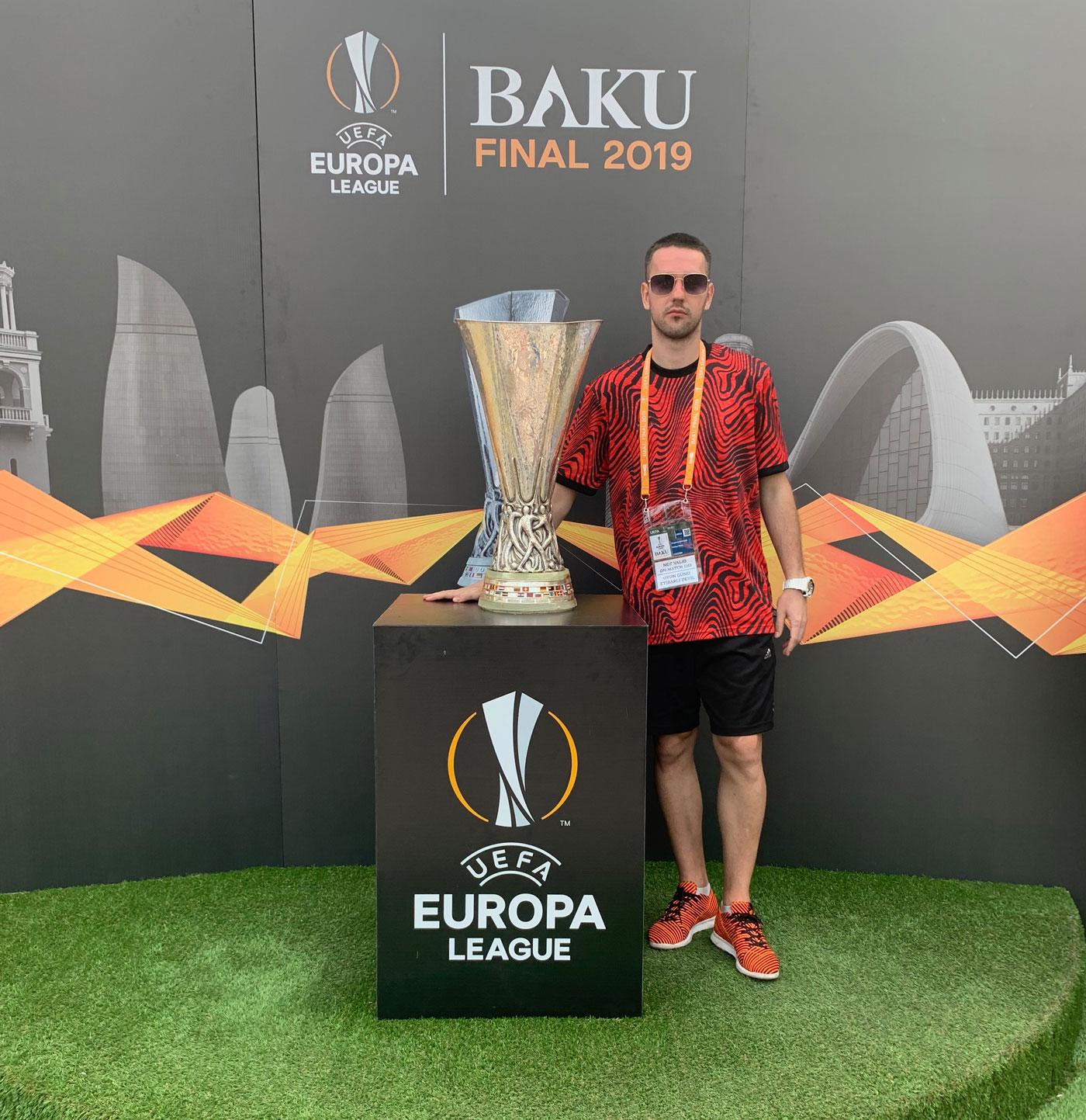 Europa League Cup with FAN